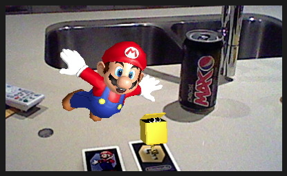 super mario 3DS augmented reality card