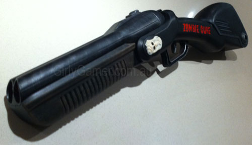 buzz bee double shot sawn-off zombie cure shotgun nerf mod