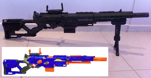 ... Nerf Longstrike CS-6 mod painting drybrushed