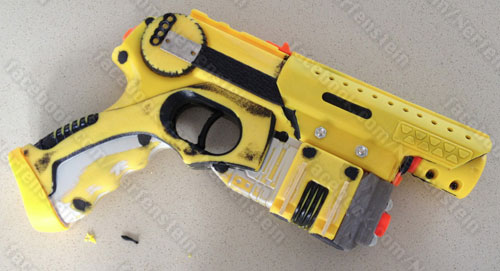 Unprimed Nerf Nite Finder Terra Nova pistol build tutorial