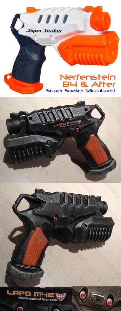 Nerf Super Soaker Microburst blaster mod Blade Runner gun by Tyrell Corp