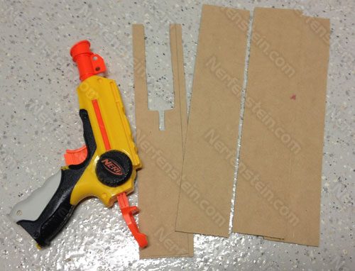 AEP7 Laser Pistol Nerf Nite Finder mod prop build