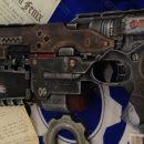 Gears of War COG chainsaw pistol mod Nerf Element