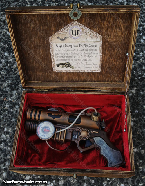 wayne industries steampunk batman blaster pistol