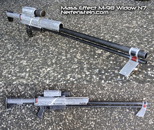 Mass Effect M-98 widow sniper rifle prop build nerf mod blaster for cosplay