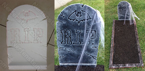 halloween tutorial making foam gravetones and graves