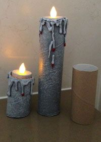 bleeding candles for Halloween prop making tutorial