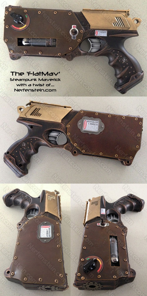 steampunk nerf maverick flatmav flattened by nerfenstein