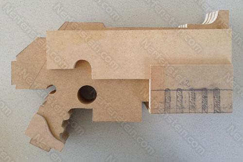 Warhammer 40K Bolter pistol mdf prop build WIP