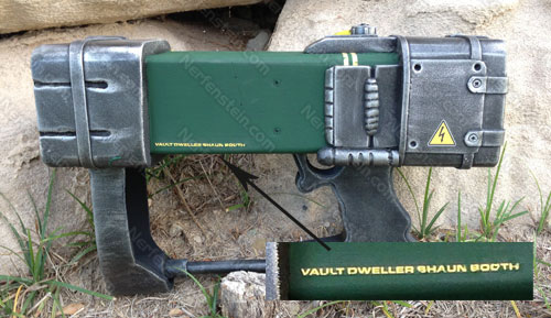 AEP7 Laser Pistol from Fallout personalised to Vault Dweller Shaun
