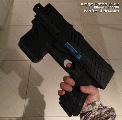Judge Dredd 2012 pistol WIP by Nerfenstein props
