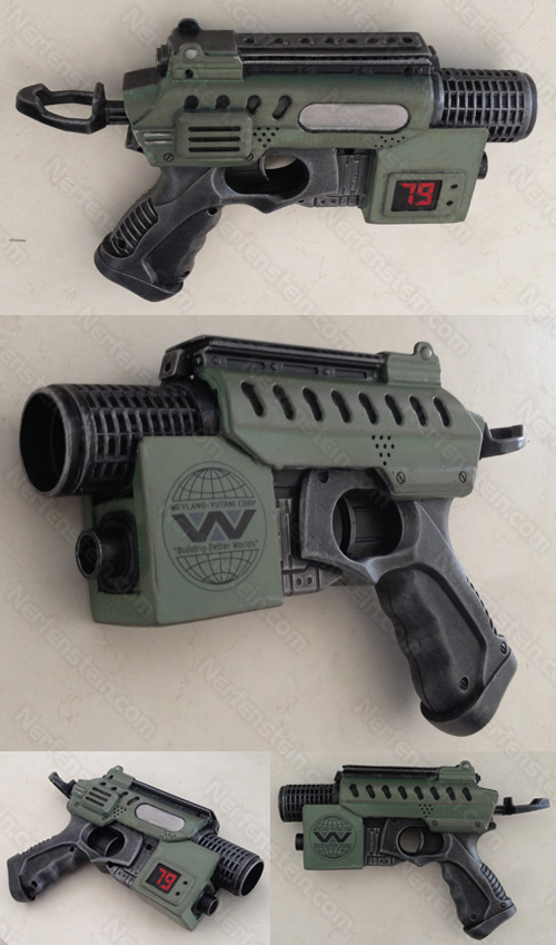 Aliens Colonial Marines Nerf Nite Finder Blaster Pistol Mod baby M41A