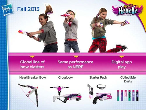 Hasbro Nerf Rebelle female blaster line of toy guns for girls