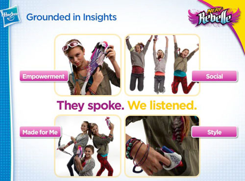 Rebelle by Nerf Hasbro grounded in sexism or insight?