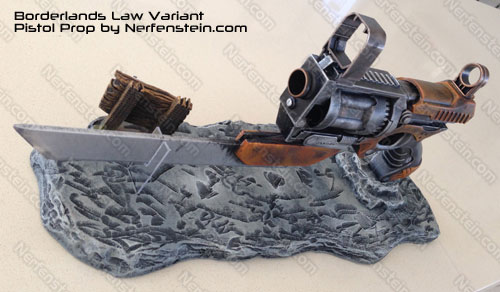 Borderlands Jakobs Logo Borderlands 2 Law Pistol Prop