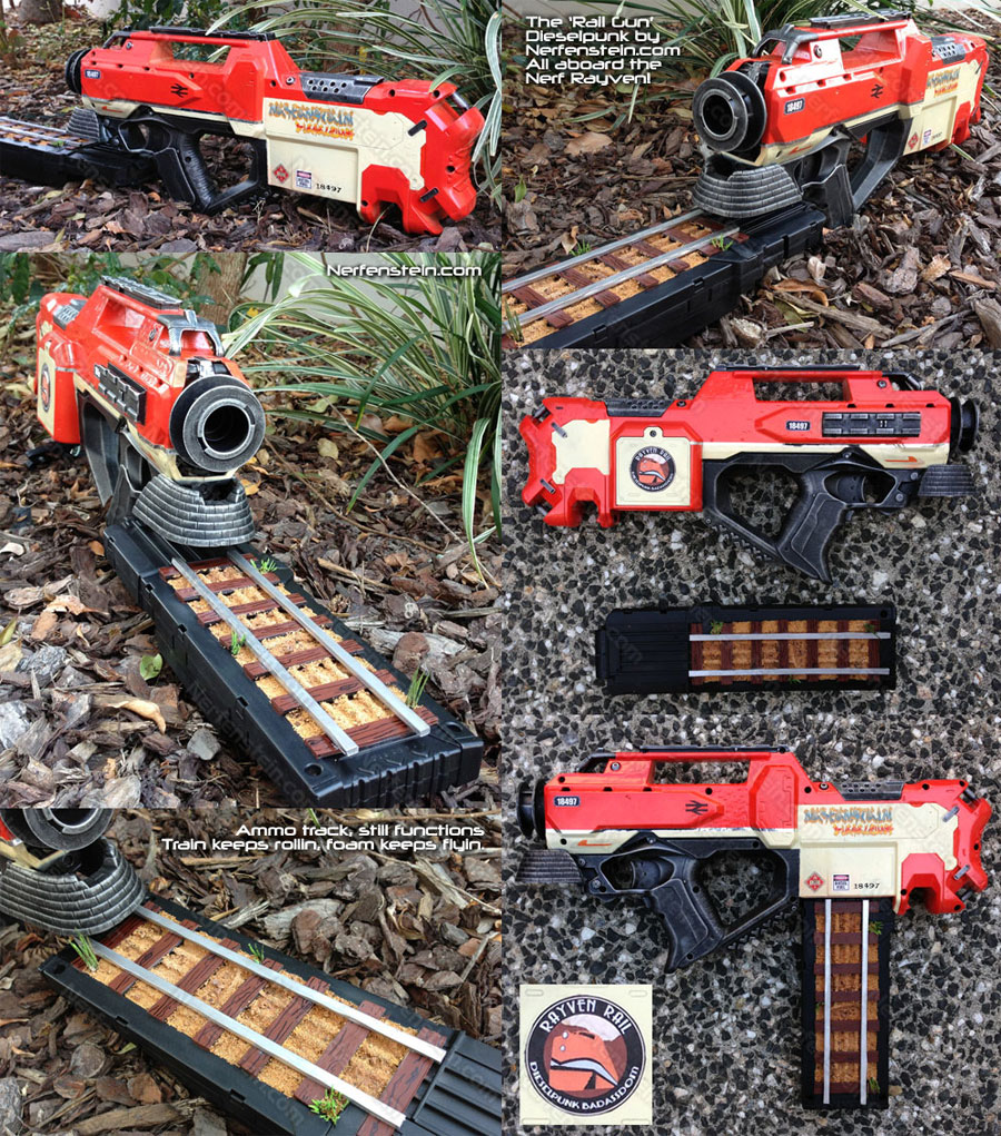 Nerf Rayven mod Train Nerf rail gun mod with tracks
