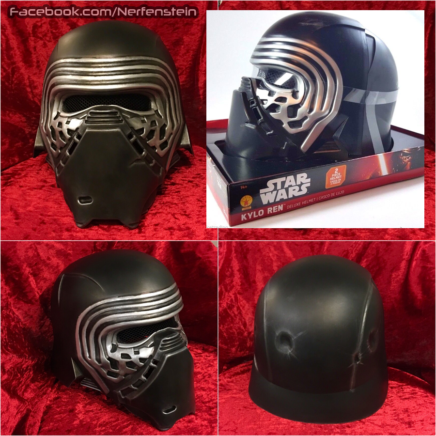 Rubies version Kylo Ren helmet mod and repaint by nerfenstein