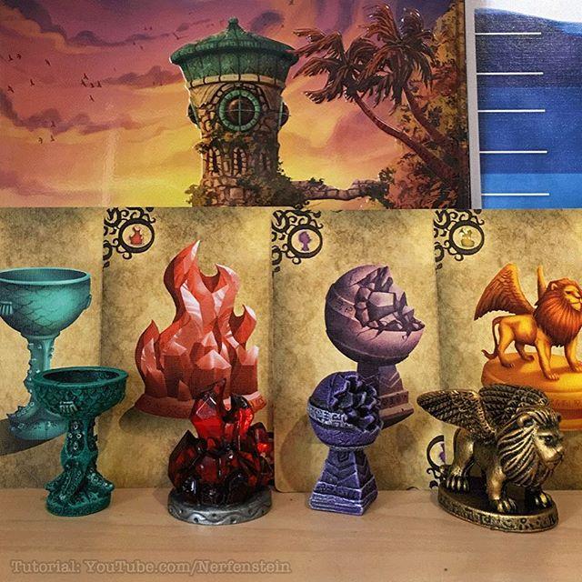 Forbidden Island components repainted