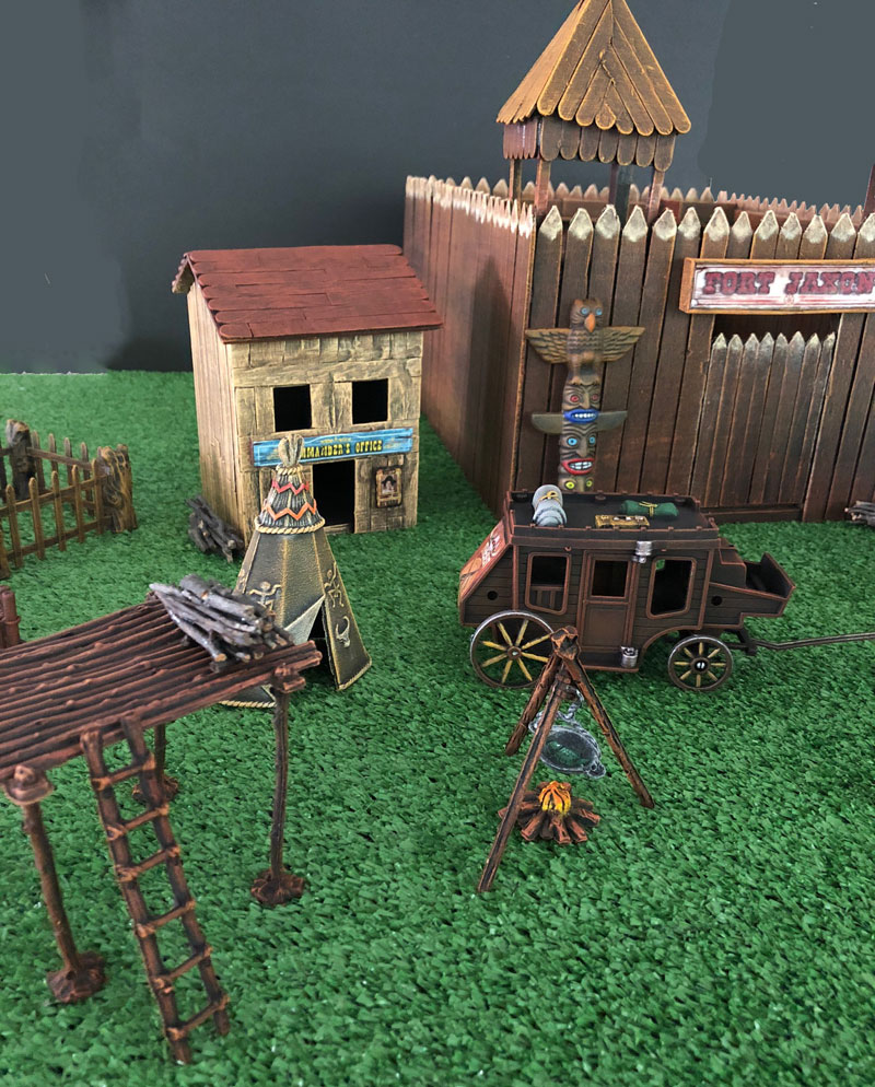Toy wild west fort build and paint project