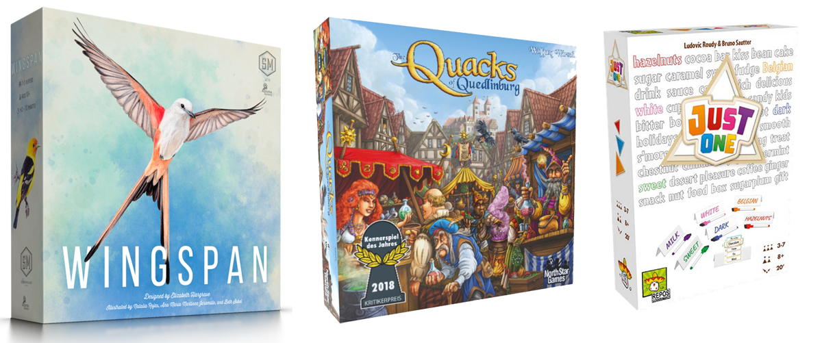 Favorite Board Games of 2019 Wingspan Qucks of Quedlinburg and Just One