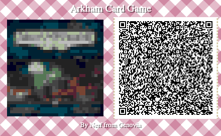 Arkham Horror Card Game Board Game QR Code for Animal Crossing New Horizons
