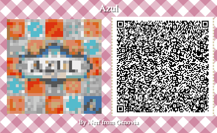Azul Board Game QR Code for Animal Crossing New Horizons