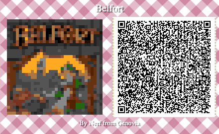 Belfort Board Game QR Code for Animal Crossing New Horizons