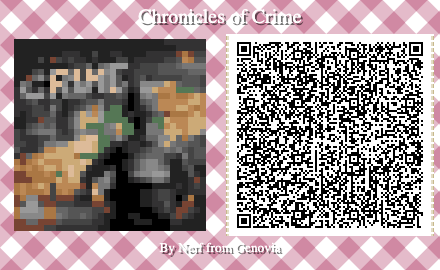 Chronicles of Crime Board Game QR Code for Animal Crossing New Horizons