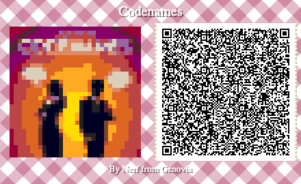 Codenames Board Game QR Code for Animal Crossing New Horizons