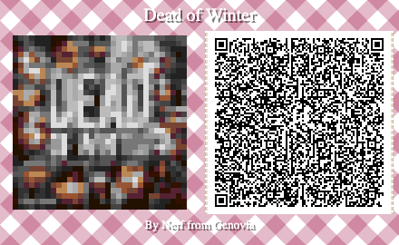 Dead of Winter Board Game QR Code for Animal Crossing New Horizons