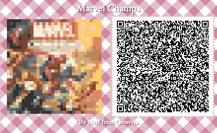 Marvel Champions Board Game QR Code for Animal Crossing New Horizons