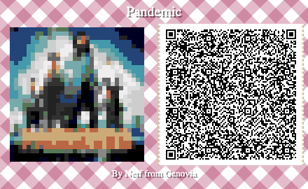 Pandemic Board Game QR Code for Animal Crossing New Horizons