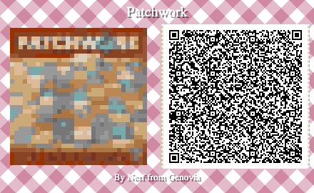 Patchwork Board Game QR Code for Animal Crossing New Horizons