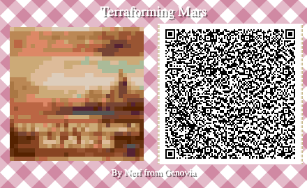 Terraforming Mars Board Game QR Code for Animal Crossing New Horizons