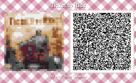 Ticket to Ride Board Game QR Code for Animal Crossing New Horizons