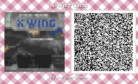X Wing Miniatures game QR code for Animal Crossing New Horizons