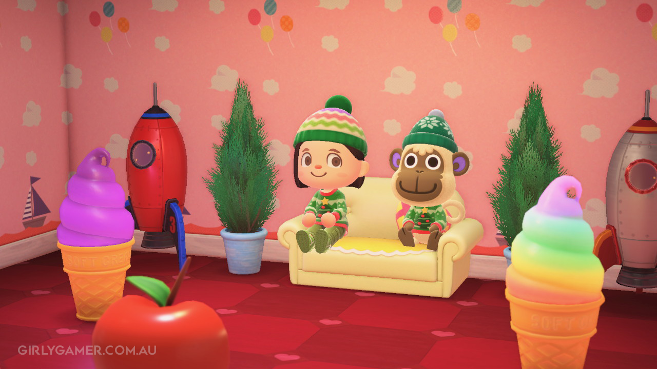 animal crossing new horizons deli at Christmas game screenshot nerfenstein