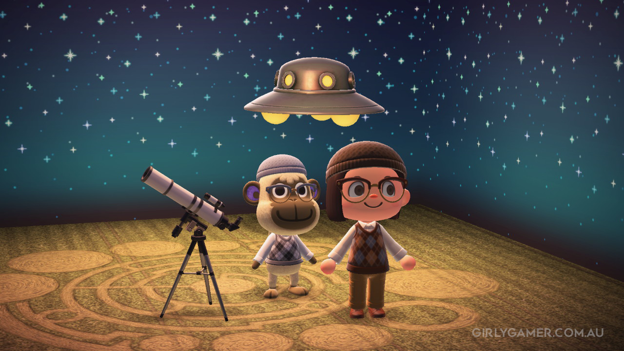 animal crossing new horizons UFO spotting deli game screenshot nerfenstein