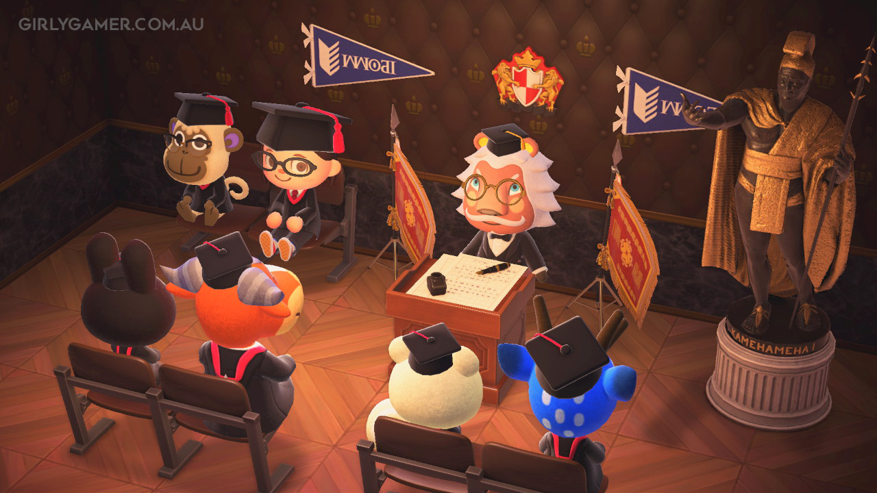 animal crossing new horizons graduation deli game screenshot nerfenstein