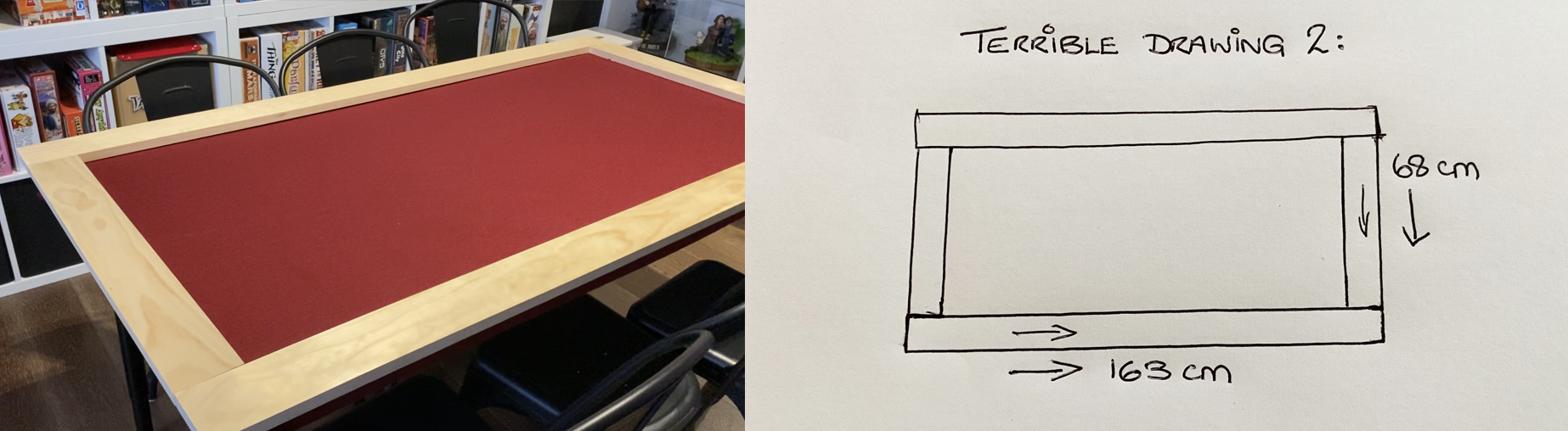 boardgamegran board game frame table conversion part 2