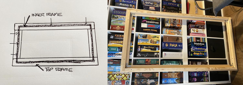 boardgamegran board game frame tabletopper finished