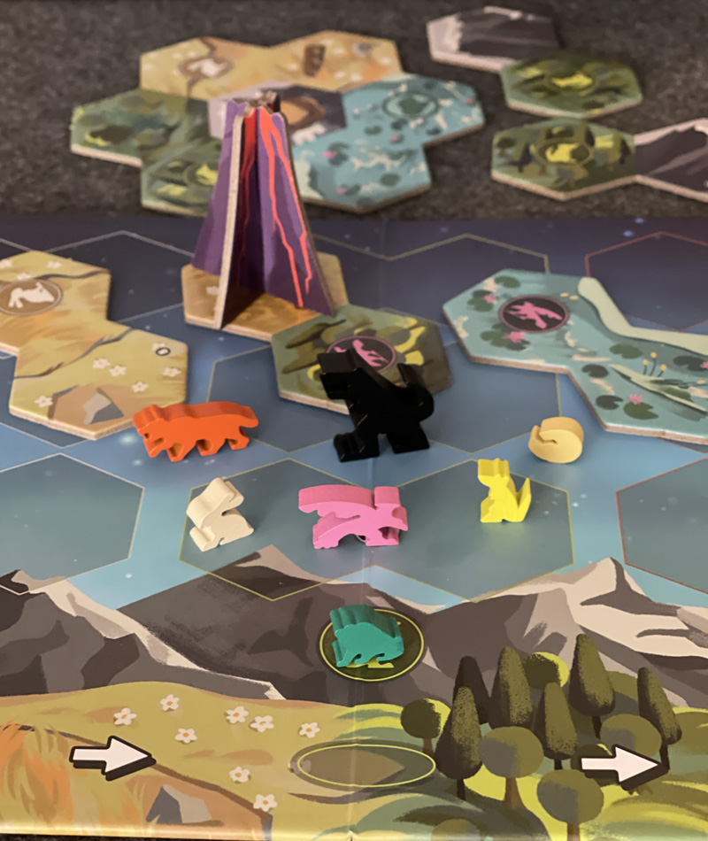 gods love dinosaurs board game review