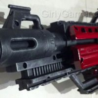 Nerf paint mod the Stampede black with red plating