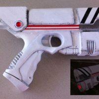 River Song's Alpha Meson blaster pistol Nerf mod